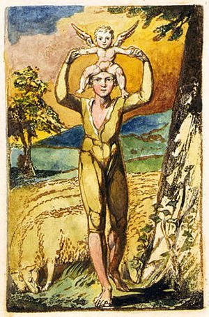 Frontispiece Songs of Experience by William Blake